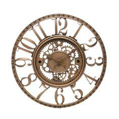 """Trent Austin Design Knoll 15.5"""" Open Dial Gear Wall Clock"""