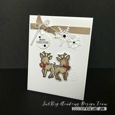 Stampin'Up! Seasonal Chums bundle, stamp set, stampin' blends, christmas, holiday card, diy, papercrafts