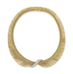 """A diamond and gold """"cheveux d'ange"""" necklace, by Van Cleef & Arpels #christiesjewels"""