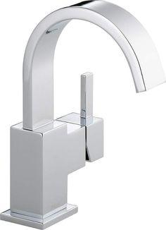 Delta 553LF Vero Single Hole Bathroom Faucet with Pop-Up Drain Assembly - Includ Chrome Faucet Lavatory Single Handle