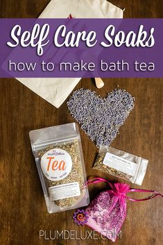 Learn how to make bath tea and escape the stress of everyday life. #bathtearecipe #bathteadiy