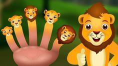 Finger Family Lion   Animal Lion Finger Family Songs & Nursery Rhymes For Children
