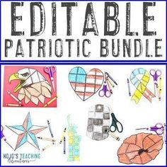 EDITABLE Patriotic Symbols - Use for Learning on ANY Topic! | Use these editable puzzles for any #patriotic time of year in 1st, 2nd, 3rd, 4th, 5th, 6th, 7th, or 8th grade elementary or middle school classrooms or homeschools. Great for math, literacy, vocabulary, foreign language concepts, and more. Grab yours today! (Patriots Day, 9/11, September 11, Remembrance Day, Veterans Day, 4th of July) 5th Grade Classroom, Middle School Classroom, Pearl Harbor Day, Patriotic Symbols, Constitution Day, 4th Of July, September 11, Patriots Day, Critical Thinking Skills