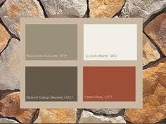 fiery opal as the accent colors for house...garage door, front door, shutters