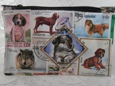 Postage Stamp Purse  Dogs by StrangelyMagical on Etsy