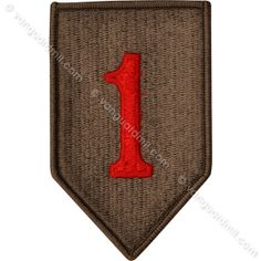 Army Patch: First Infantry Division - color