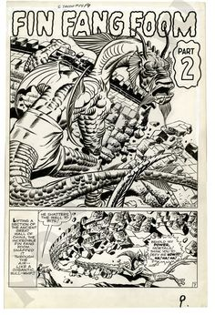 A page from the story Fin Fang Foom in Strange Tales #89 by Jack Kirby and Dick Ayers.