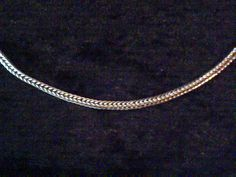Vintage sterling silver Foxtail link chain necklace 15 inches long hallmarked 1984 by vintagesilverlynx on Etsy