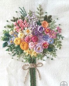 Wonderful Ribbon Embroidery Flowers by Hand Ideas. Enchanting Ribbon Embroidery Flowers by Hand Ideas. Ribbon Embroidery Tutorial, Floral Embroidery Patterns, Embroidery Flowers Pattern, Silk Ribbon Embroidery, Hand Embroidery Designs, Brazilian Embroidery Stitches, Hand Embroidery Stitches, Crewel Embroidery, Embroidery Kits