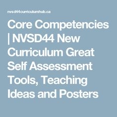 Visit the post for more. Core Competencies, Self Assessment, Critical Thinking, Curriculum, Teaching Ideas, Communication, Creativity, Management, Posters