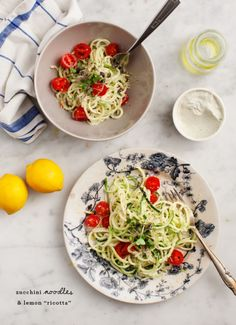 "Zucchini Noodles and Lemon ""Ricotta"""