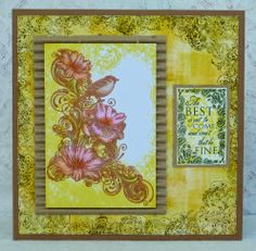 Vintage style card with IndigoBlu image and flourish. Artistic Outpost text and lots of Distress inks. Recycled packaging for texture too.