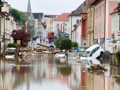 Simbach foi uma das mais afetadas pelas inundações (Foto: Michaela Rehle/Reutes)