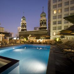 Rooftop Pool At The Roosevelt New Orleans Hotel