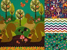 Norwegian Wood - Crib Bedding Set - Baby Toddler - Custom Made to Order - Woodland deer squirrel outdoors fox hedgehog on Etsy, $130.00