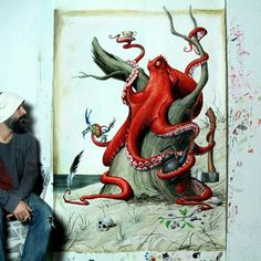 ArtWork (painting) by Young-sung Kim Instagram : @kim.young_sung Facebook : Young-sung Kim  Arte Sem Fronteiras : facebook.com/artsemfronteiras twitter.com/artesfronteiras instagram.com/artesemfronteiras  #artsemfronteiras #artistic #artesemfronteiras #arte #art #mundocriativo #artwithoutborders #paint #painting #painter #pintura #acrylic #fish #peixe #youngsungkim
