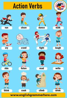 Action Verbs: List of Common Action Verbs, Definition and Ex… English Vocabulary; Action Verbs: List of Common Action Verbs, Definition and Ex…,Action Verbs English Vocabulary; Action Verbs: List of Common Action Verbs,. English Phonics, Teaching English Grammar, English Verbs, English Vocabulary Words, Learn English Words, English Language Learning, English Writing Skills, Teaching Spanish, Learning English For Kids