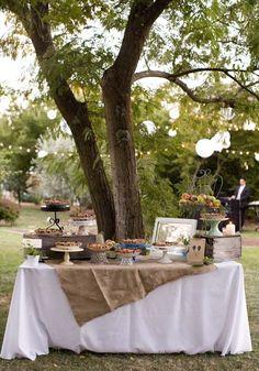 Rustic Outdoor Wedding Reception (Self Serve Dessert Bar) Fall Wedding, Rustic Wedding, Our Wedding, Wedding Pies, Wedding Pie Table, Purple Wedding, Trendy Wedding, Wedding Cake, Dessert Bar Wedding