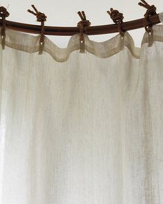 If I could just use only linen. Sigh. Eileen Fisher Sheer Linen Shower Curtain