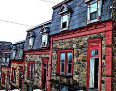 Temperance Street Houses - also known as the Three Sisters - St John's, Newfoundland, Canada ~ Newfoundland Canada, Newfoundland And Labrador, O Canada, Canada Travel, Constitution Of Canada, Beautiful Buildings, Beautiful Places, Permanent Vacation, Atlantic Canada