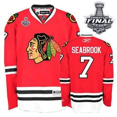 16 Authentic Brent Seabrook Jersey - Women's Youth Red Black ...