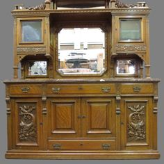American Antique Hutch Buffet Sideboard Furniture