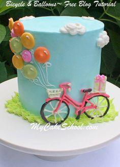 Bike and balloon Cake