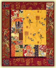 The Main Feature quilt pattern featuring Asian fabrics
