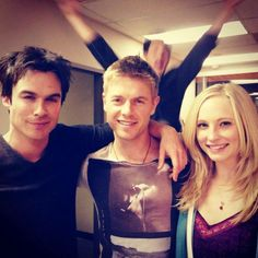 Ian with some of the tvd casts