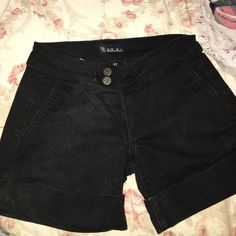 See Thru Soul jean shorts See Thru Soul black jean shorts with rolled leg. In excellent condition See Thru Soul Shorts Jean Shorts