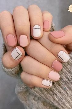 Nails spring 44 Trends Spring Nails Art 2019 Look Chic manicure Classy Nails, Stylish Nails, Simple Nails, Trendy Nails, Cute Acrylic Nails, Cute Nails, My Nails, Pink Nails, Shellac Nails Fall