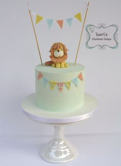 Little lion 1st birthday cake smash cake