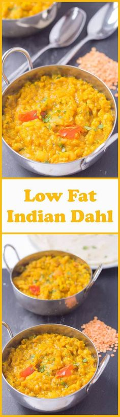 Low fat Indian dahl is one of my favourite curries. Suitable for vegans it's relatively quick and simple to make. When youre in the need of something healthy and filling thats meat free and really tasty, you cant go wrong with this low fat Indian dahl. Indian Food Recipes, Vegan Recipes, Cooking Recipes, Ethnic Recipes, Low Fat Vegetarian Recipes, Indian Foods, Curry Recipes, Free Recipes, Quinoa