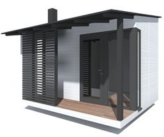 Pulpettikattoinen Pihasauna valkoinen Tall Cabinet Storage, Tiny House, Outdoor Living, Sweet Home, Cottage, House Design, Mirror, City, Wood