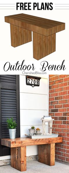 Get the FREE PLANS to build this Classic DIY Outdoor Bench!