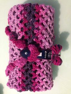 Capa de crochet plegada y preparada para ser regalada! ;) #crochet