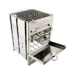 Portable Wood Stove, Camping Wood Stove, Portable Camping Stove, Portable Grill, Tent Stove, Mini Charcoal Grill, Charcoal Bbq, Mini Barbecue, Barbecue Grill