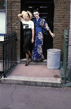 Marilyn & George O'Dowd - Carburton Street squat (1980) by Derek Ridgers.