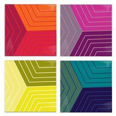 Multicolored Studies Coasters (Set of 4) / Post Studio