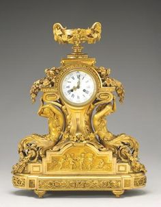 Delicious In Taste French Mantle Clock 19th Century Antique With Matching Candelabras Antique (pre-1930)