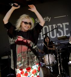 SXSW Music Day Two:  Debbie Harry surprised fans enjoying buzz band the Dum Dum Girls at the Spotify House.