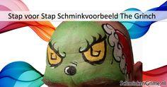 Stap voor Stap Schminkvoorbeeld The Grinch Grinch, Tutorials, Fictional Characters, Fantasy Characters, Wizards