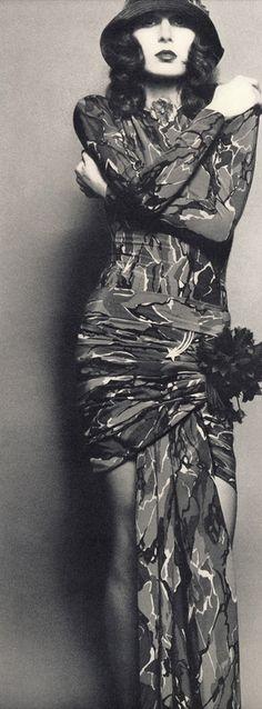 "Anjelica Huston by Bob Richardson, for ""Vogue Italia,"" 1971"