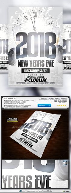 New Year Flyer | Pinterest | Event flyers, Party flyer and Flyer ...