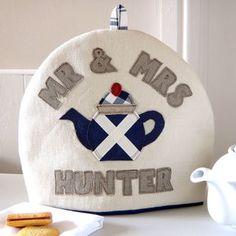 Personalised Scottish Flag Tea Cosy