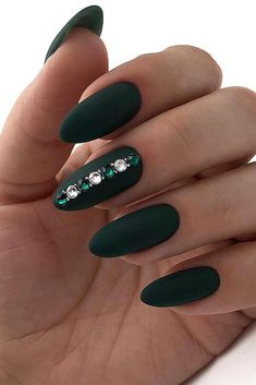50 Elegant Emerald Christmas Green Nail Designs You Shoud Do For The Coming Valentine's Day - Page 43 of 50 - Cute Hostess For Modern Women - Elegant Emerald Christmas Green Nail Designs You Shoud Do For The Coming Valentine's Day; Mint Green Nails, Blue Nails, Matte Nails, Gel Nails, Nail Nail, Green Nail Designs, Winter Nail Designs, Acrylic Nail Designs, Holiday Nails