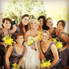 wedding day <3  yellow and gray wedding colors!