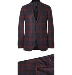 Gucci Burgundy Slim-Fit Checked Wool Suit | MR PORTER