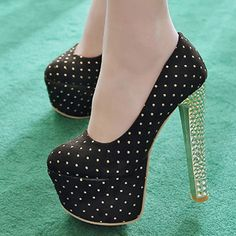 Shoespie Stylish Sequined Platform Heels