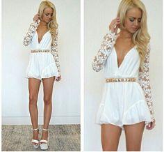 Cute white dress ..